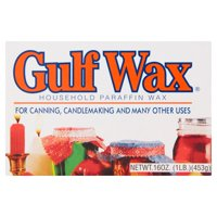Gulf Wax Household Paraffin Wax for Canning & Candle Making, 16 Oz, 4 Pack