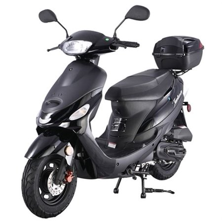 6365d7edbf483 Black TAOTAO ATM50-A1 50cc Moped Scooter with 10