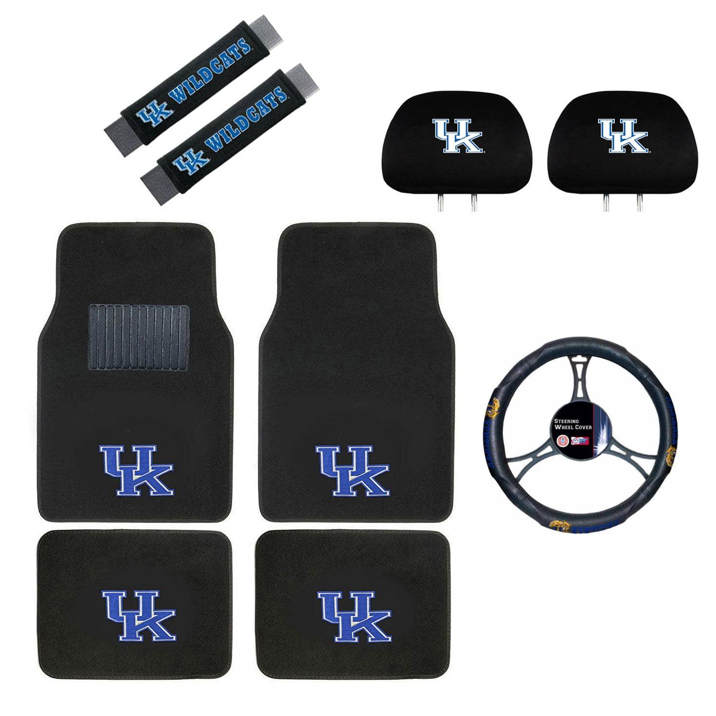 Kentucky WildCats Floor Mat, Headrest Wheel Cover and Shoulder Pads Gift Set