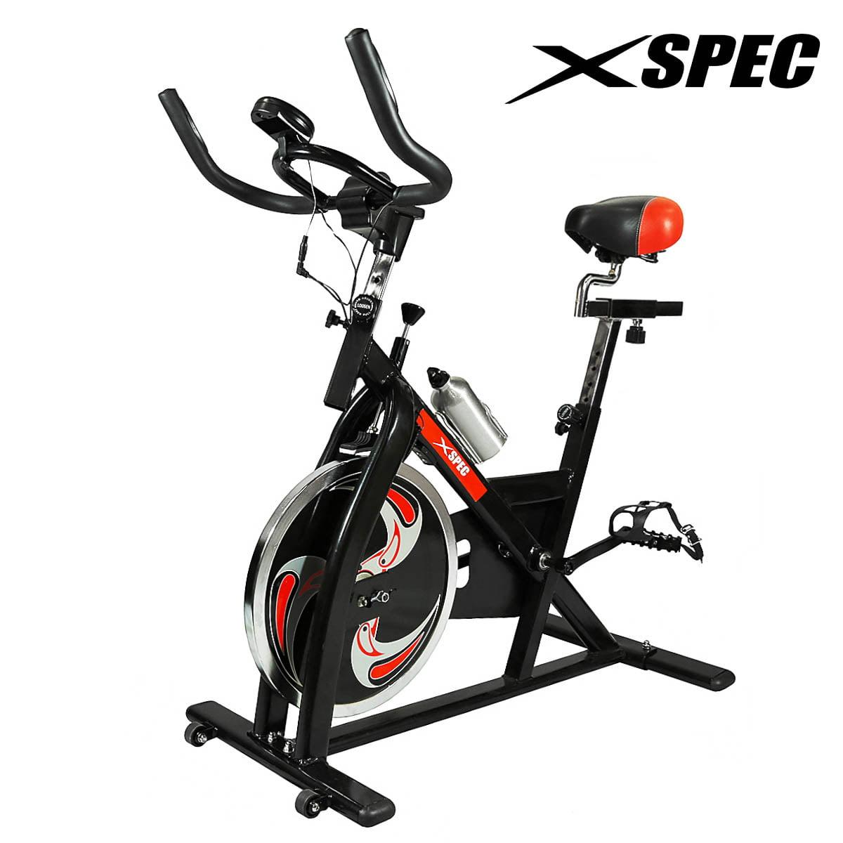 Xspec Pro Stationary Upright Exercise Bike, Black Indoor ...