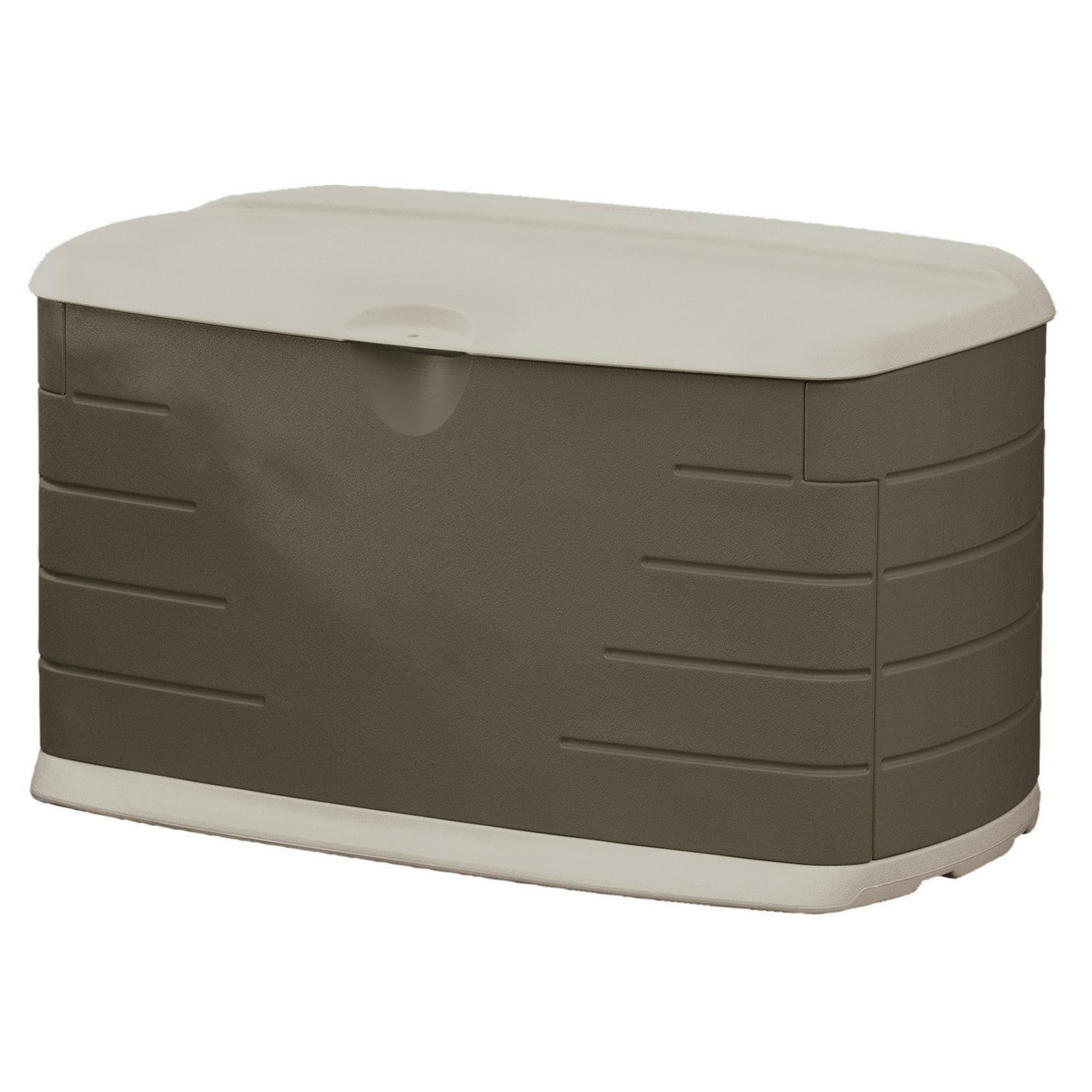 Rubbermaid 2047053 73 Gallon Medium Resin Deck Box with Seat