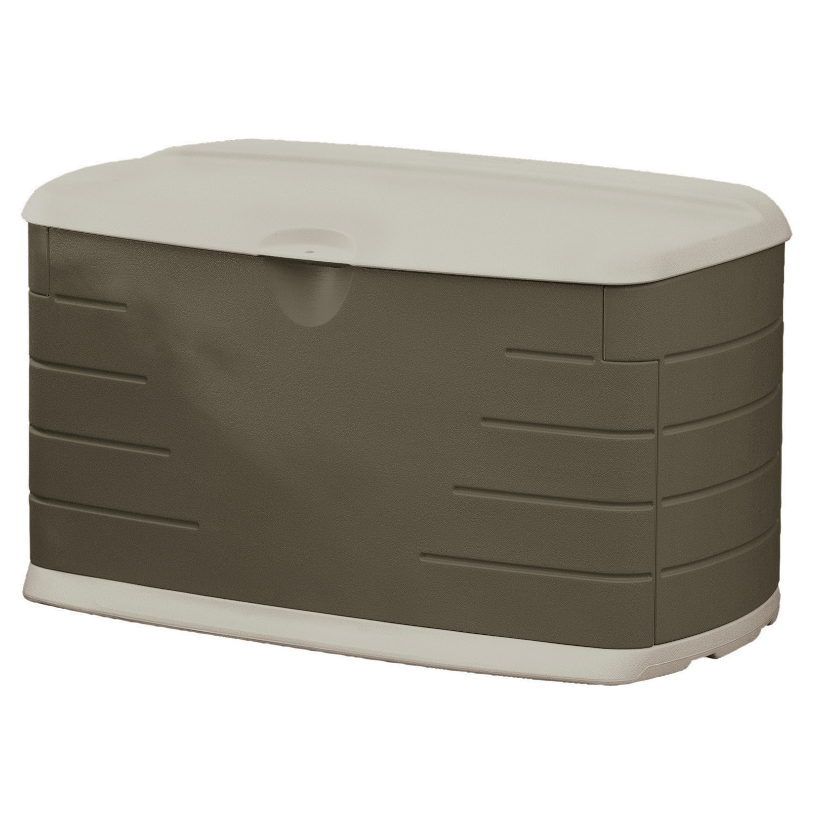 "Rubbermaid FG5F2100OLVSS 75 Gallon 11.875"" L X 44.25"" W X 28.125"" H Outdoor Storage B"