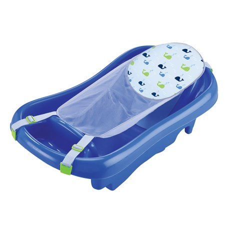 Product of TOMY Sure Comfort Deluxe Newborn to Toddler Tub, Blue - Bath [Bulk Savings]