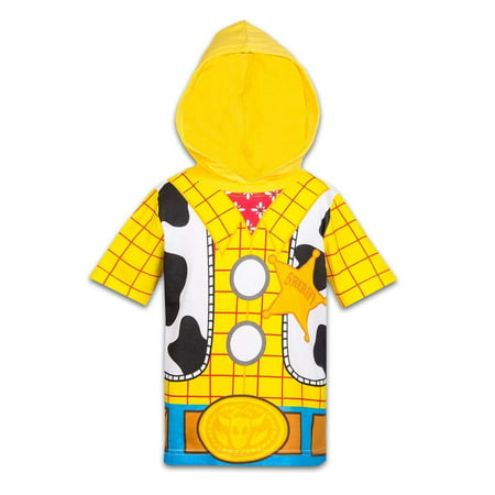 Disney Toy Story Boys Hooded Shirt Toy Story Costume Tee - Buzz Lightyear Sheriff Woody for $<!---->