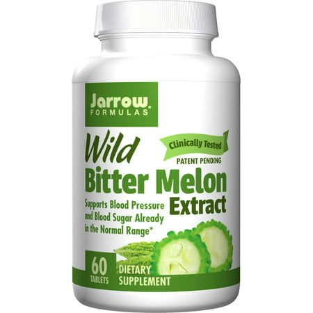 Jarrow Formulas Wild Bitter Melon Extract, Supports Blood Pressure and Blood Sugar Already in the Normal Range, 60 -