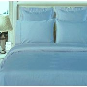 Luxurious 600 Thread count 100% Cotton Solid Duvet Cover and 2 Shams Set