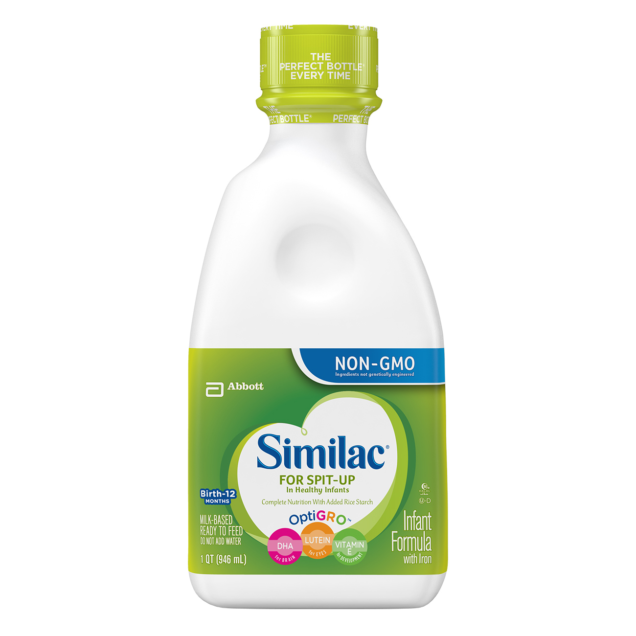 Similac For Spit-Up Infant Formula, Ready to Feed, 1 qt (Pack of 6) by Similac