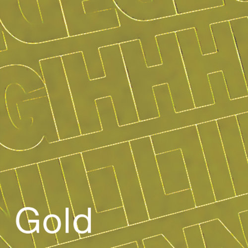 """Permanent Adhesive Vinyl Letters and Numbers, 1"""" 183pk, Gold"""