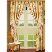 Greenland Home Fashions Antique Rose - 84L x 42W in. Window Panel Pair with Tiebacks