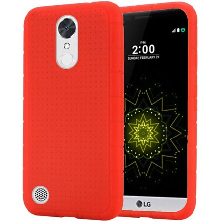 Harmony Rod - For LG K20 Plus Harmony Grace Rugged Silicone - Red