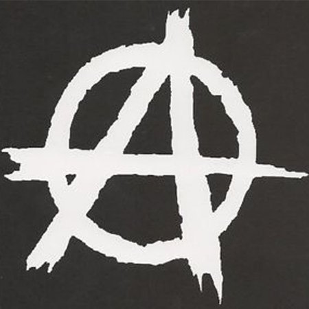 Anarchy Vinyl Cut Decal With No Background   5 Inch White Decal   Car Truck Van Wall Laptop Cup