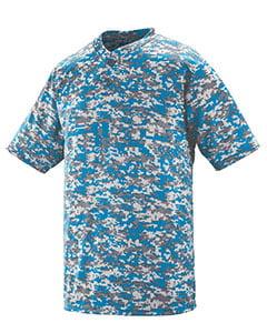 Augusta Drop Ship Adult Polyester Digi Print Two-Button Short-Sleeve Jersey
