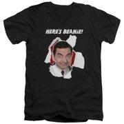 Mr Bean Here's Beanie Mens V-Neck Shirt