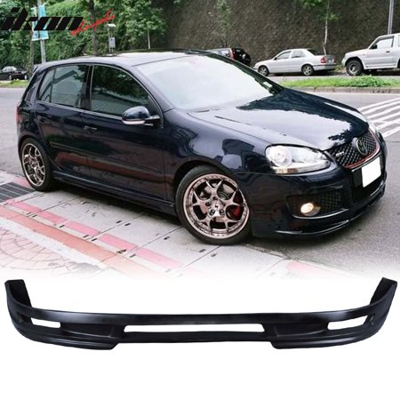 Poly Urethane Type A PU Front Bumper Lip Spoiler Compatible with 06-09 VW Golf GTI MK5 Jetta
