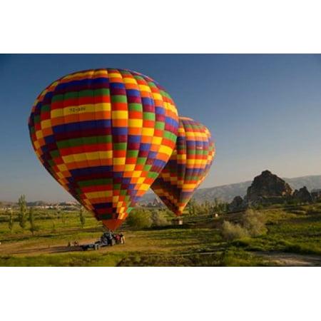 Turkey in Cappadocia and hot air ballooning Canvas Art - Darrell Gulin  DanitaDelimont (26 x 17)
