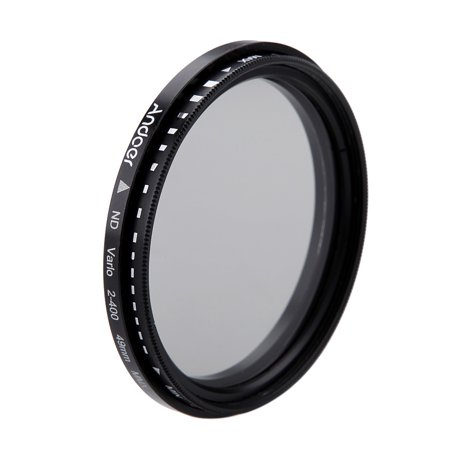 Andoer 49mm ND Fader Neutral Density Adjustable ND2 to ND400 Variable Filter for Canon Nikon DSLR