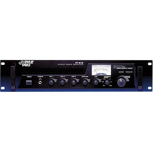 Pyle 100-Watt Rack Mount Amplifier With 4-Channel Mixer