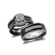 his and hers wedding ring sets couples matching rings womens steel wedding rings mens - Titanium Wedding Rings For Her
