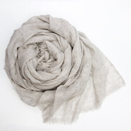 Cashmere Blend Scarf 30x80 Inch Silver Russian Pearl Soft Wrap Shawl For Women