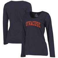Syracuse Orange Women's Basic Arch Long Sleeve T-Shirt - Navy
