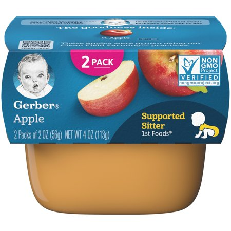 (Pack of 8) Gerber 1st Foods Baby Food, Apple, 2-2 oz