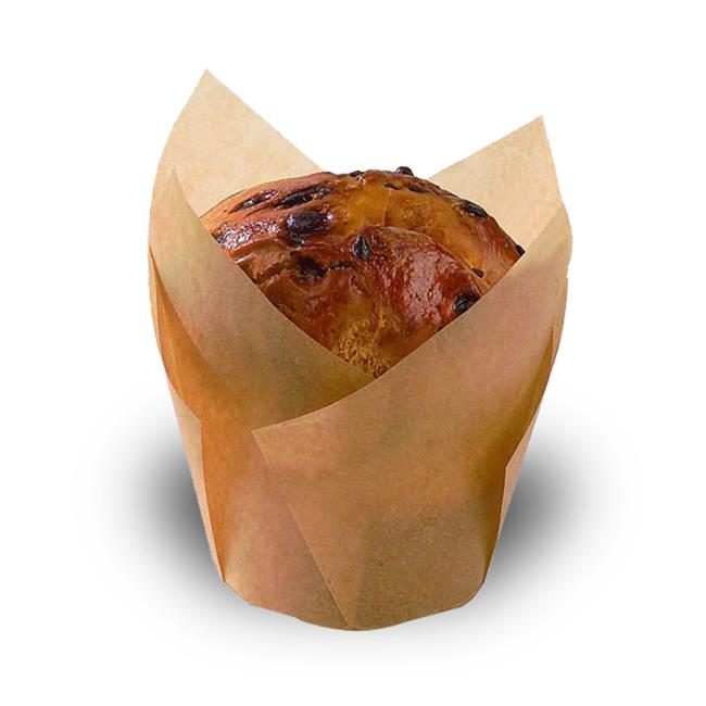 PacknWood 209CPST1M Tulips Golden Brown Silicone Baking Cup - 1.25 Oz. Pack Of 1000
