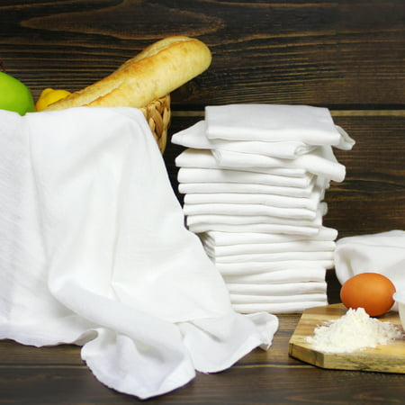 Mainstays (20) Pack White Flour Sack Dish Towel - 100% Cotton - 28
