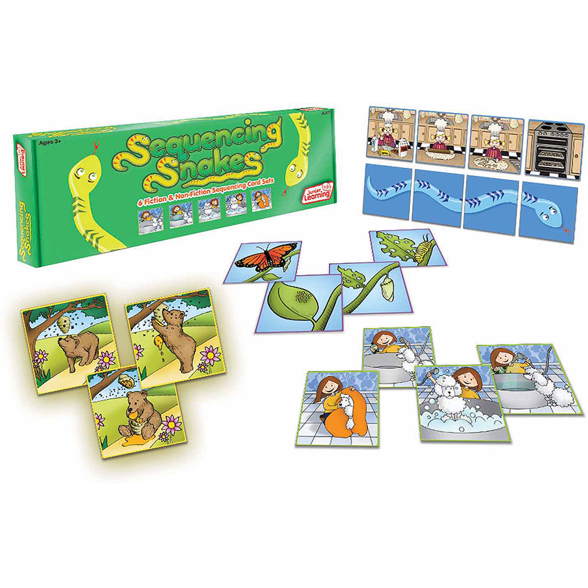 Junior Learning Sequencing Snakes, Develop Comprehension and Oral Language