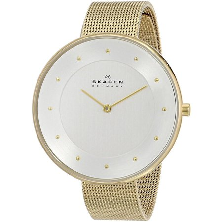 Analog White Dial Watch (Women's 38mm Gold-Tone Steel Bracelet & Case Quartz White Dial Analog Watch skw2141 )