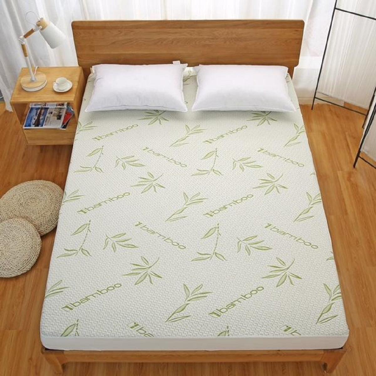 Bamboo Mattress Protector Hypoallergenic Waterproof Cover Pad Walmart Com Walmart Com