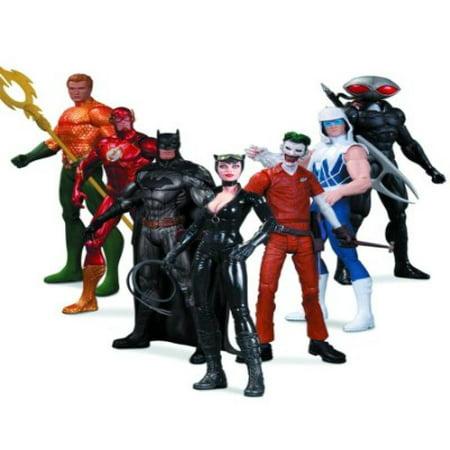 DC Collectibles Comics The New 52: Super Heroes vs. Super Villains Action Figure, 7-Pack - Heroes Vs Villains Halloween Party
