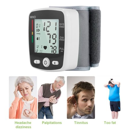 Outad Upper Arm Lcd Display Automatic Wrist Blood Pressure Monitor Household Use Withe - image 9 of 13