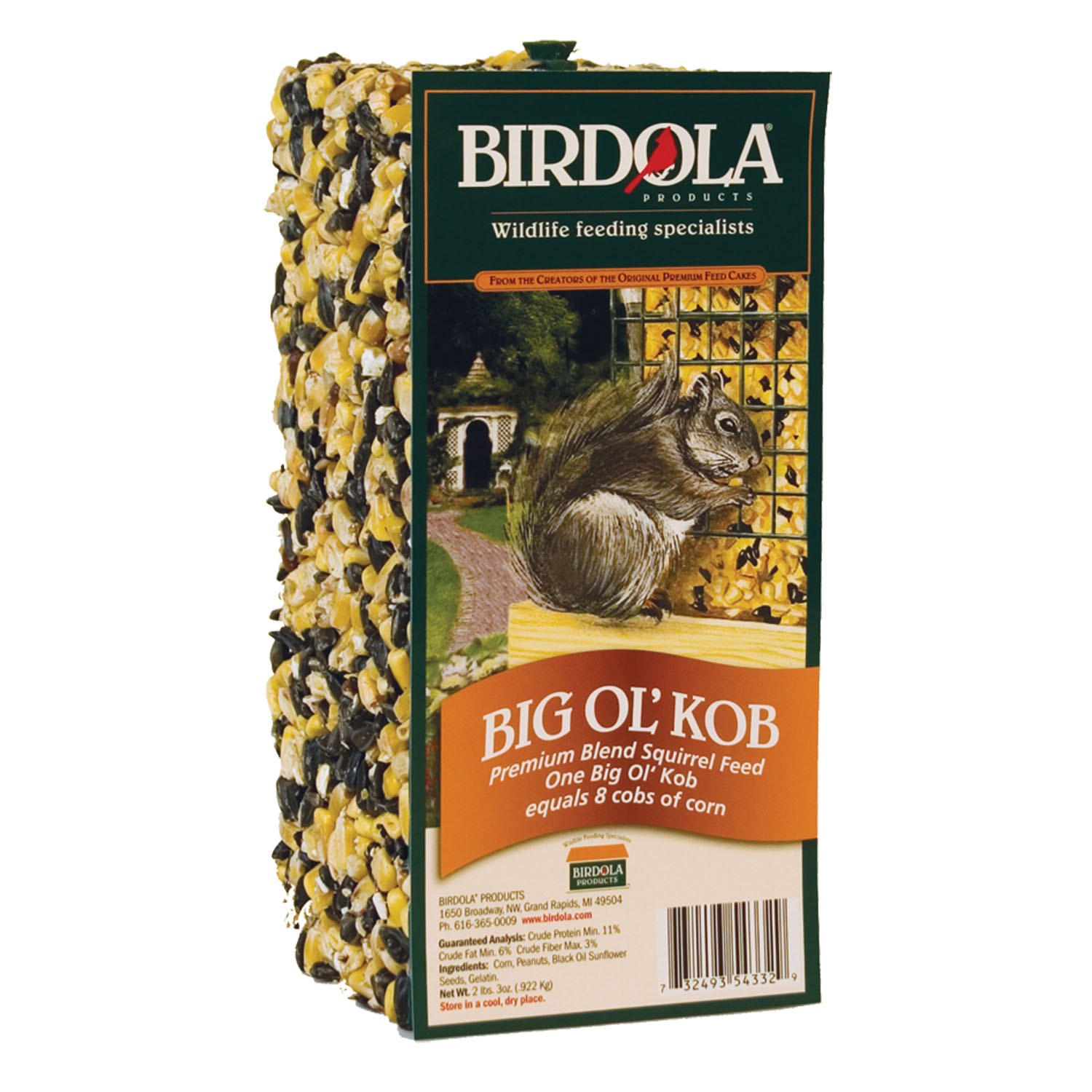 (2 Pack) BirdolaÃu201a® Big Olu0027 Kob Premium Blend Squirrel Feed, 2 Lbs    Walmart.com