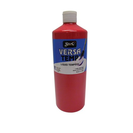 Sax Versatemp Heavy-Bodied Tempera Paint, Primary Red, 1 Quart