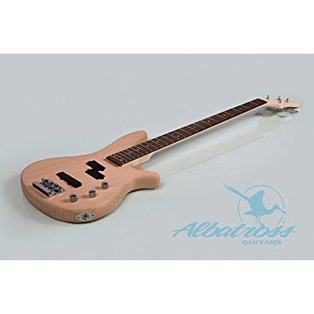Albatross Guitars | Mahogany Body | Bolt On Neck | DIY Electric Bass Guitar Kit B004