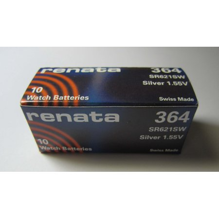10x Renata 364 SR621SW Swiss Watch Battery 1.55v ()