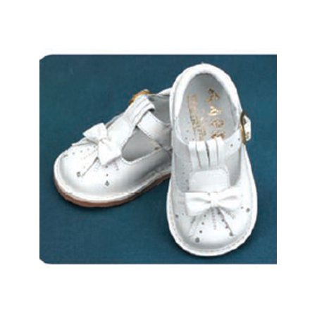 Angels Garment White Bow T Strap Baby Toddler Girl Shoe 3-9.5 (Tstrap Shoes)