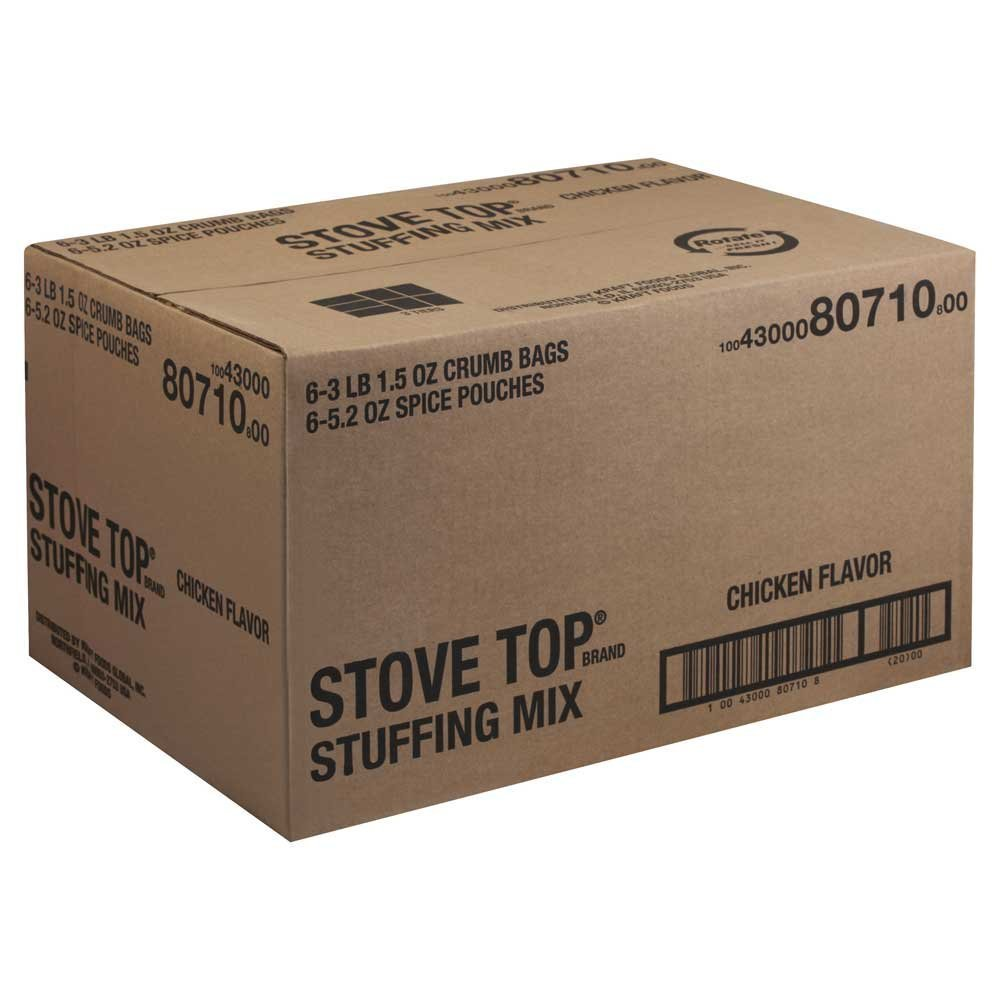 6 PACKS : Stove Top Chicken Flavored Stuffing 3.4 Pound.