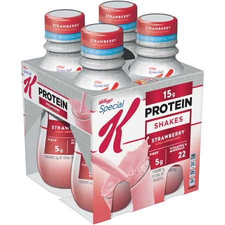 Kelloggs Special K Shake  15 Grams Of Protein  Strawberry  10 Oz  4 Ct