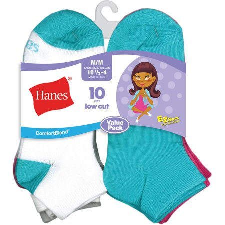 Little Girl Planter - Comfortblend Low Cut Socks, 10 Pairs (Little Girls & Big Girls)