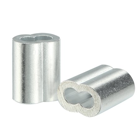 4mm 5/32-inch Cable Wire Rope Aluminum Sleeves Clip Crimping Loop 25pcs