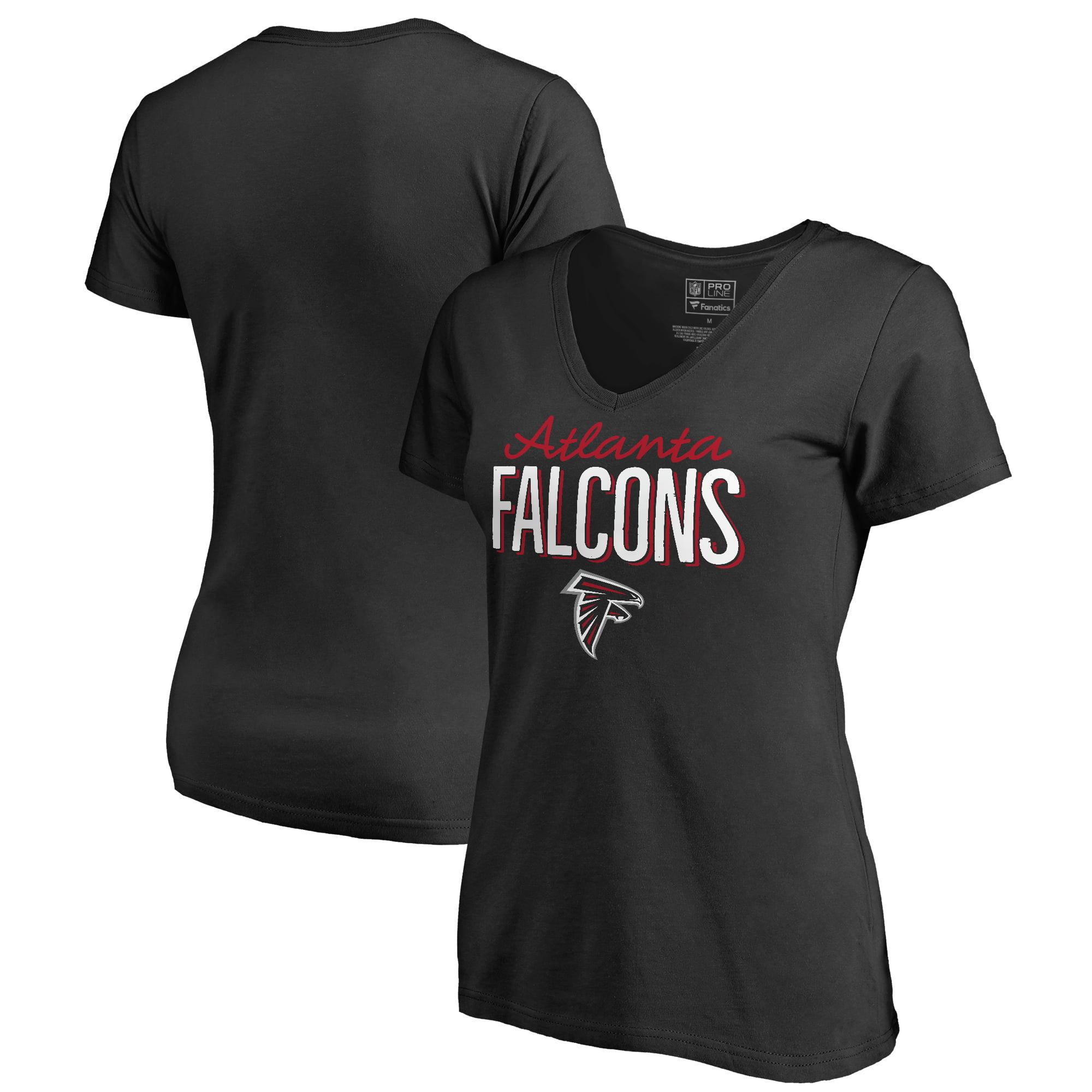 Atlanta Falcons NFL Pro Line by Fanatics Branded Women's Nostalgia T-Shirt - Black