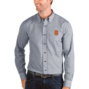 Syracuse Orange Antigua Structure Woven Button-Up Long Sleeve Shirt - Navy