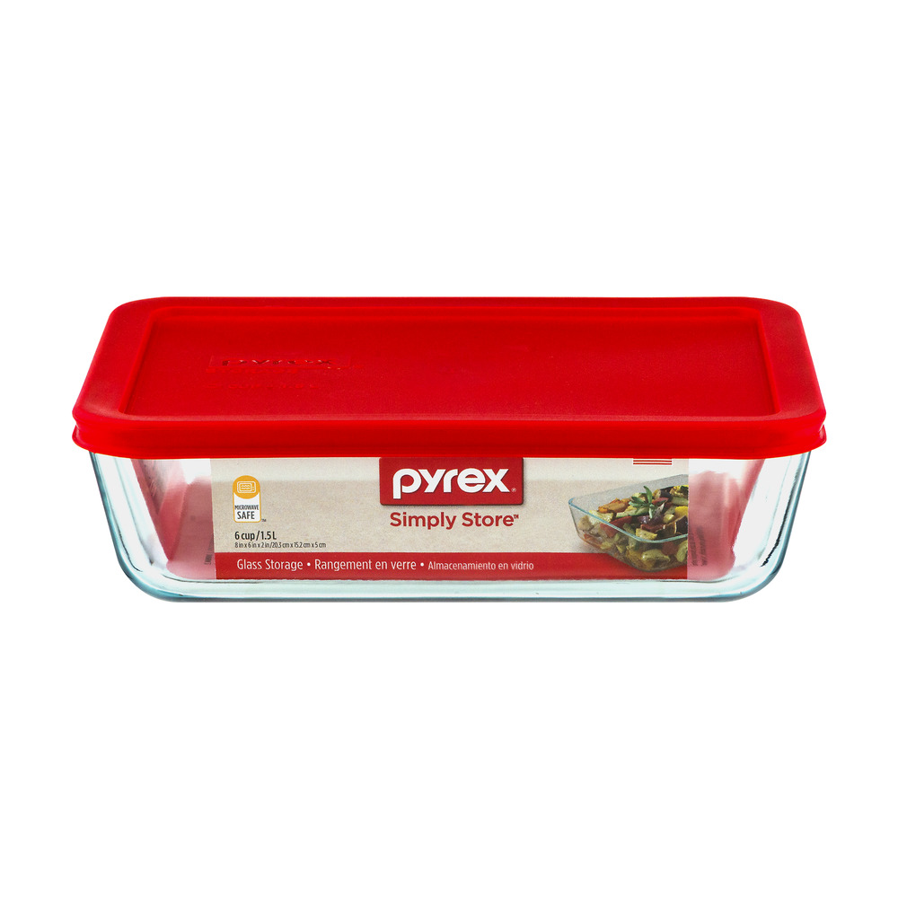 Pyrex Simply Store 6 Cup Glass Storage, 1.0 CT