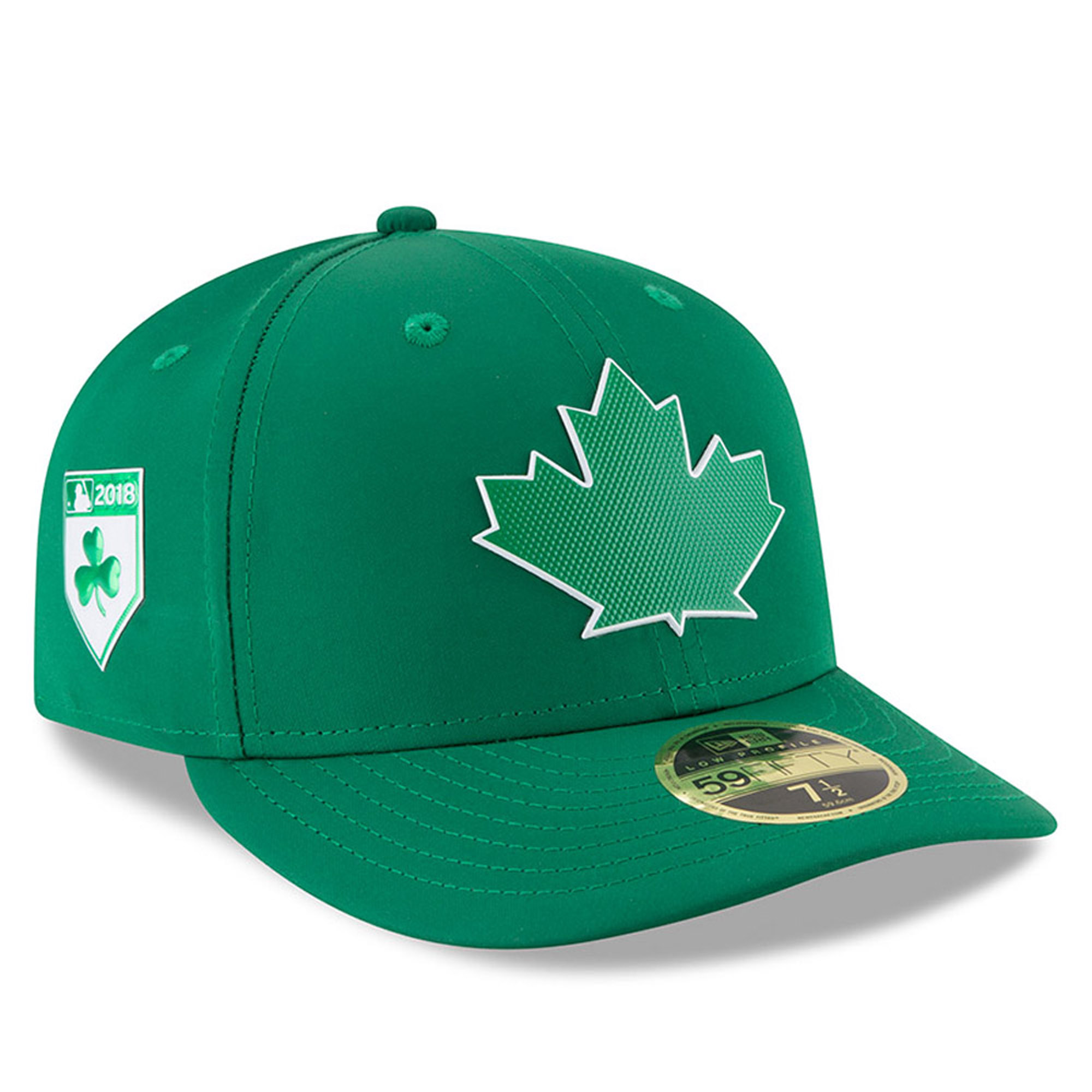 Toronto Blue Jays New Era 2018 St. Patrick's Day Prolight Low Profile 59FIFTY Fitted Hat - Green