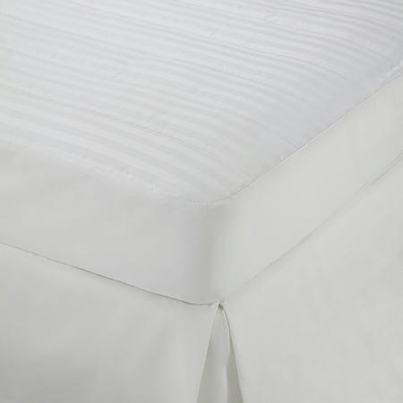 Damask Stripe Queen White Mattress -