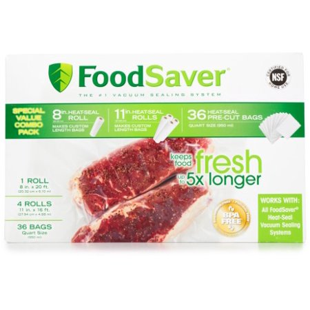 FoodSaver Vacuum Sealer Roll Combo Pack, 8