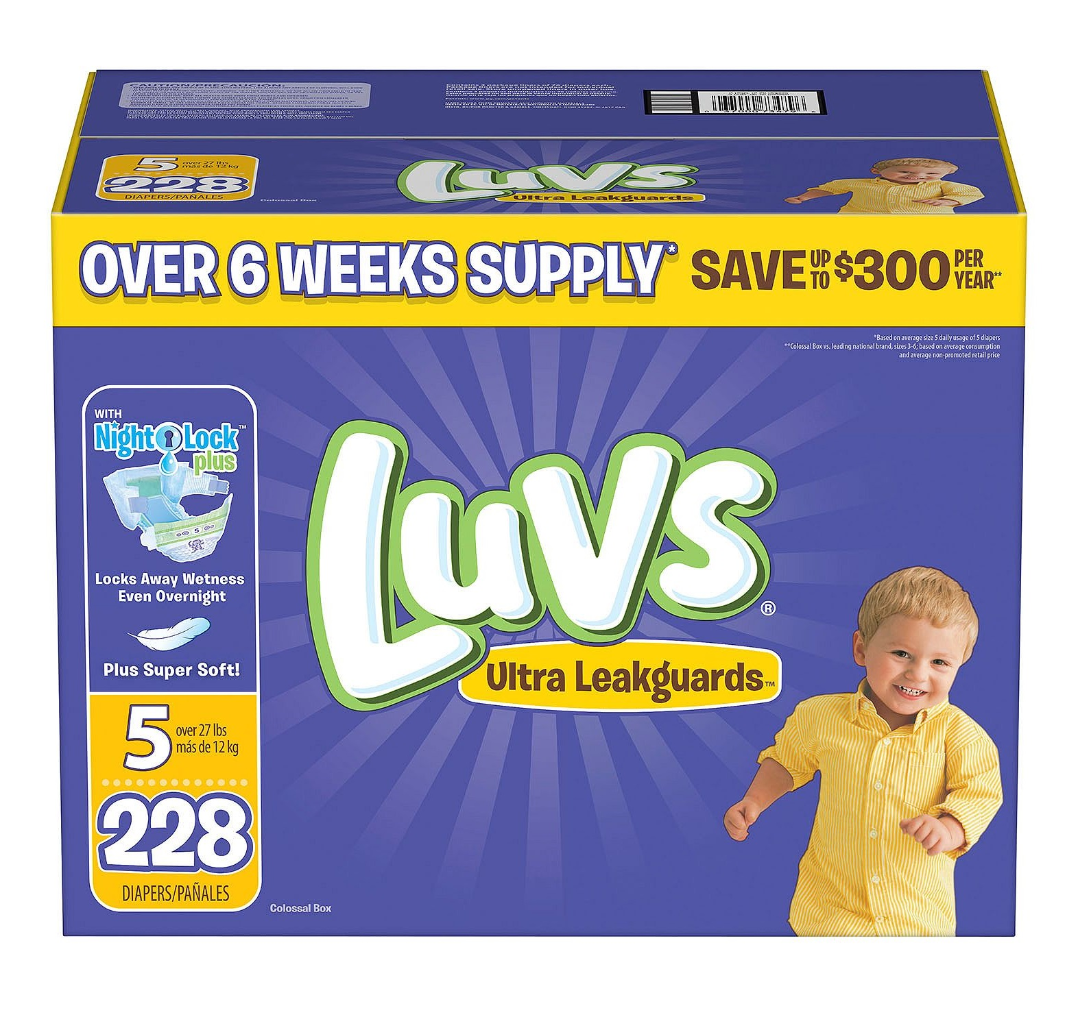 Luvs Ultra Leakguards Diapers size 5 - 228 ct.