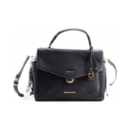 80422c422ba9 Michael Kors - Michael Michael Kors Bristol Black Pebbled Leather Medium  Top Handle Satchel Bag - Walmart.com