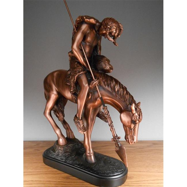 Marian Imports M1002 Indian Rider Bronze Plated Resin Scu...